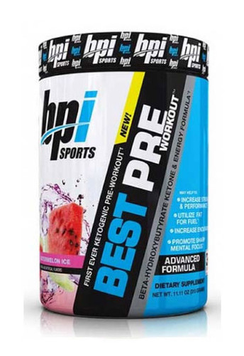 Bpi Sports Best Pre Pre-Workout Powder - Watermelon Ice, 30 Servings