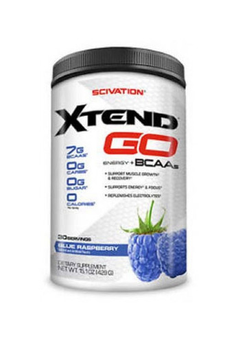 Scivation Xtend GO BCAA - Blue Raspberry, 30 Servings