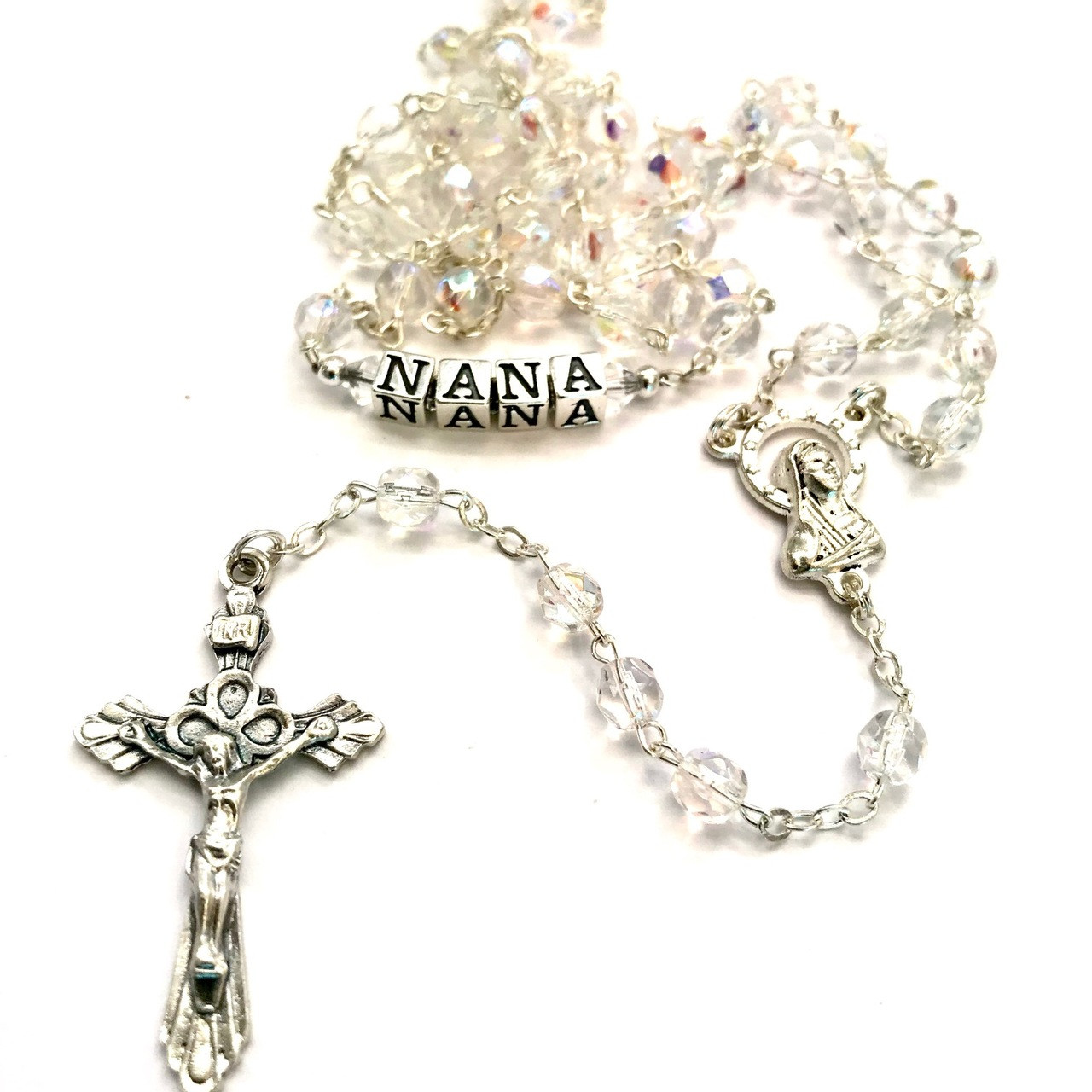 Personalised Rosary Beads /& Cross Trinket Box Gift Christening Confirmation