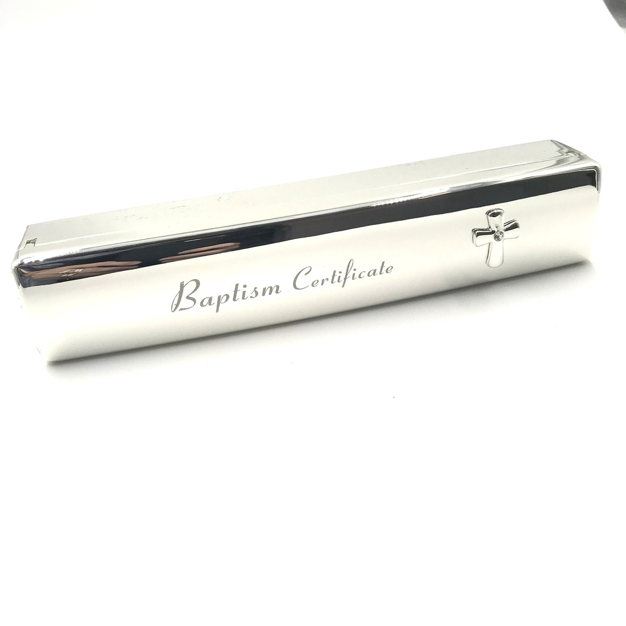 Engraved With Names And Date on Holder Personalised Silver Birth Certificate Holder