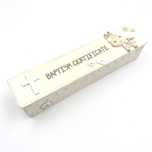 buy baptism gift certificate holder