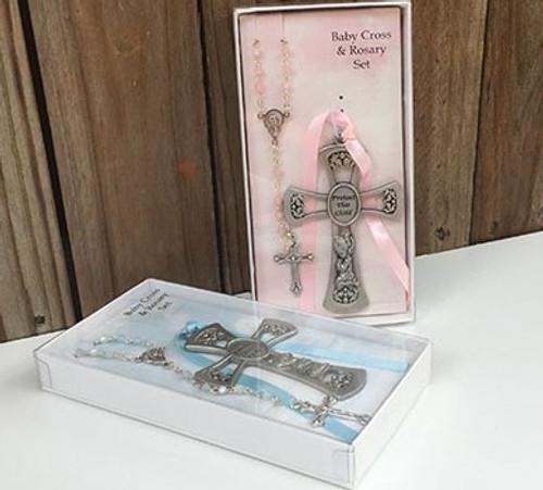 baptism gift christening gift crib cross for boy or girl