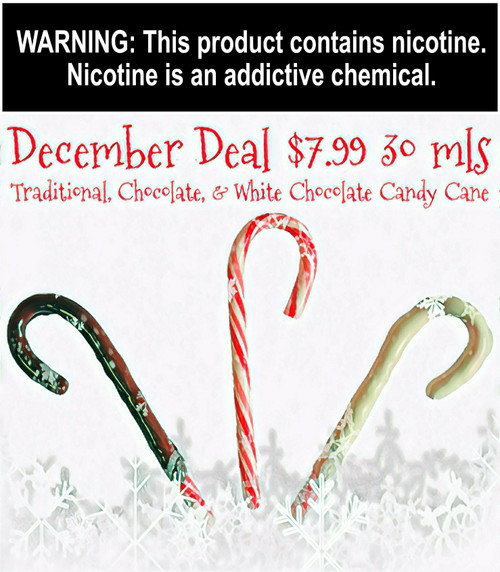 Candy Cane,  Chocolate Candy Cane or White Chocolate Candy Cane