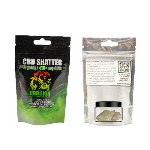 CBD Lion Shatter .5g (Assorted Flavors)