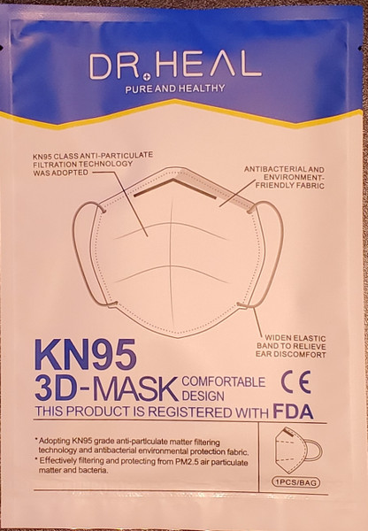 Dr Heal KN95 Anti Particulate Face Mask w/ Earloops (Individually Sealed)