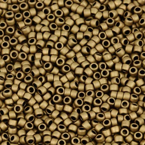 TOHO Round 110 Frosted Bronze TR-11-221Fc ~ Japanese Seed Beads ~ approx 8-9  grams 2.5 Tube