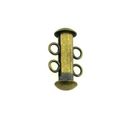 Tube Bar Clasp - Antique Brass, Copper, Silver Plated Clasps