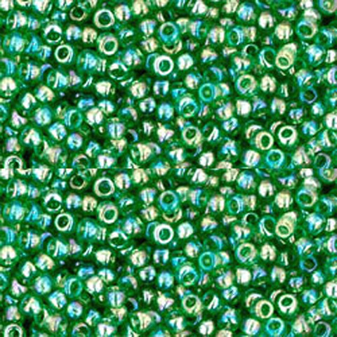 TOHO Round 110 8-9 grams 2.5 Tube Transparent Rainbow Teal TR-11-167BDc ~ Japanese Seed Beads ~ approx