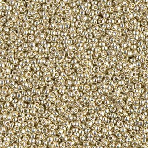 Miyuki 150 Seed Beads 5 grams Matte Champagne Color 4204F 2869-150 Miyuki Duracoat Galvanized Matte Champagne Seed Beads