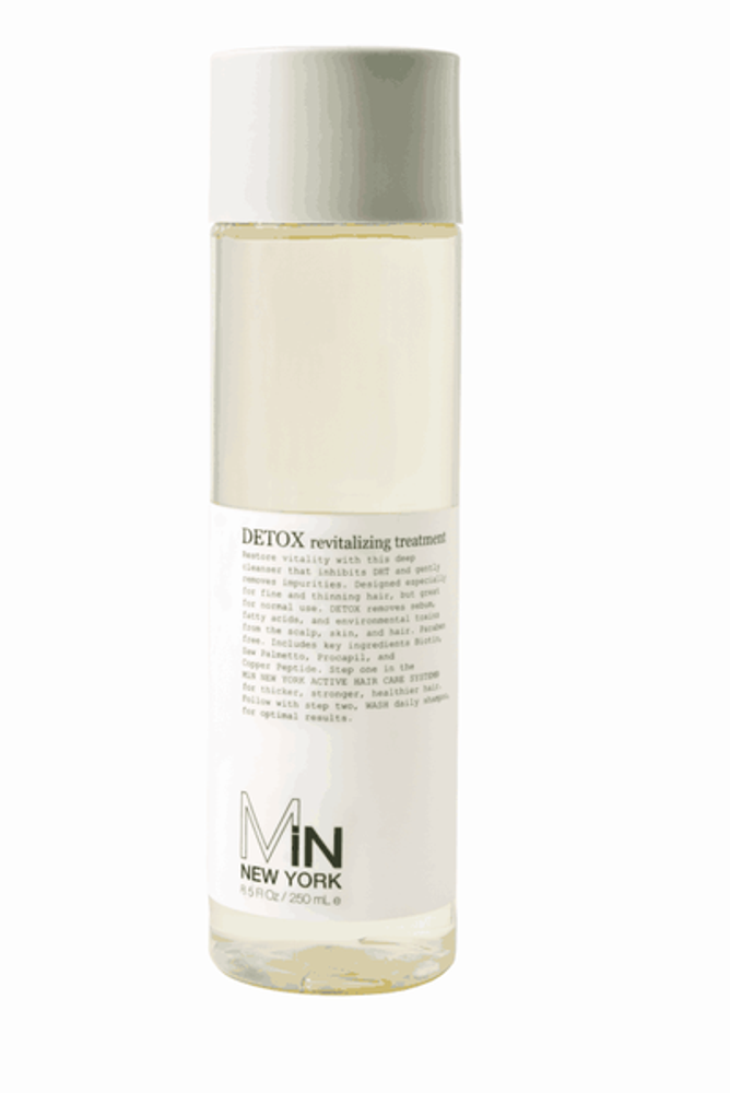 MiN New York's deep cleanser that inhibits DHT and gently removes impurities.