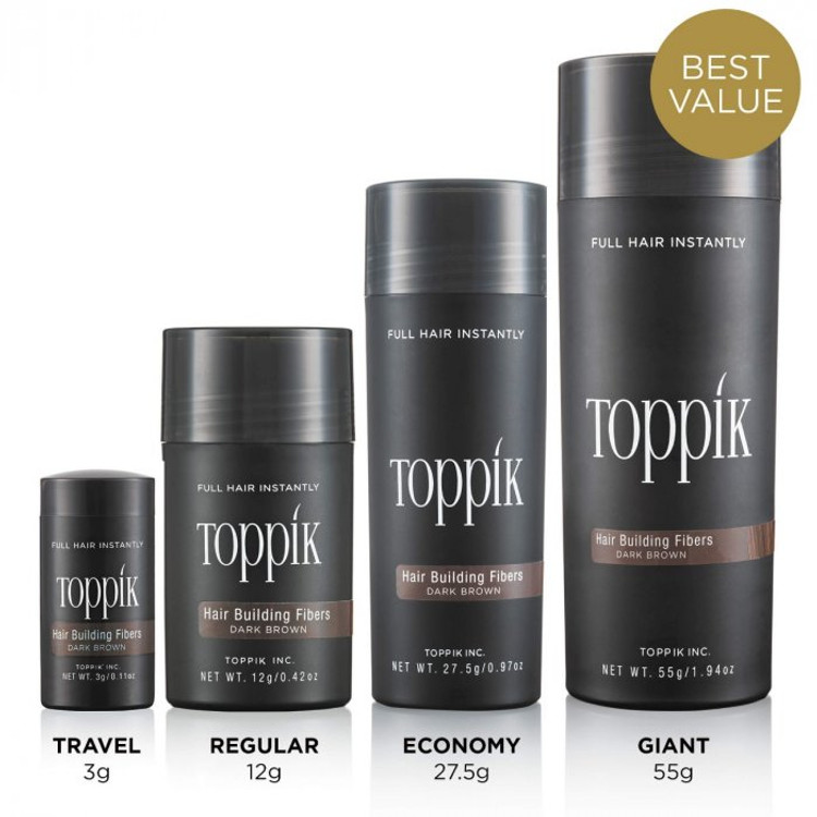 Toppik hair building fibers conceal hair loss