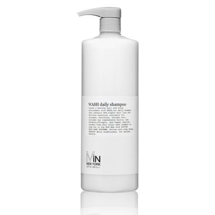 WASH is a luxurious paraben and sulfate-free daily shampoo that inhibits DHT and delivers essential nutrients.
