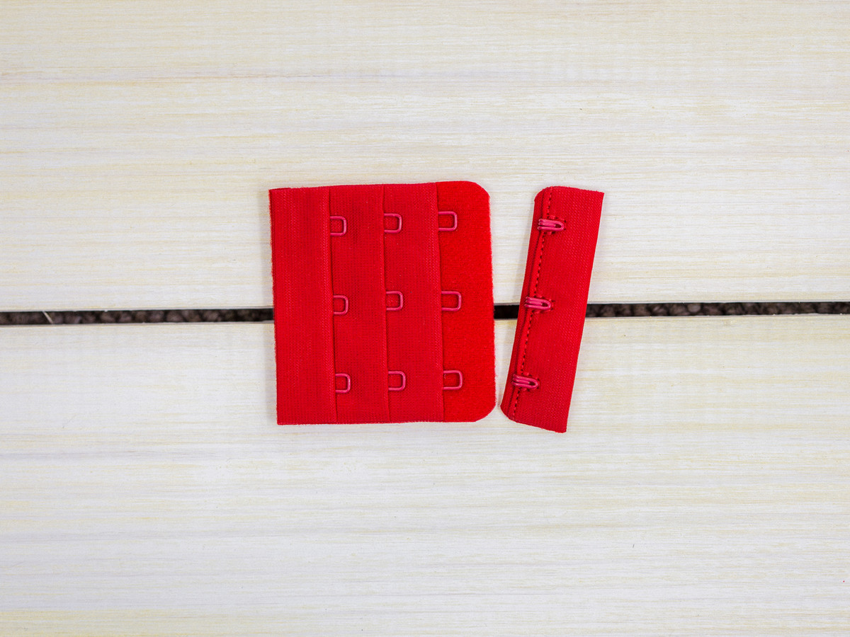 """Red 3 Hook and Eye Bra Back Closures 2.25"""" x 2"""""""
