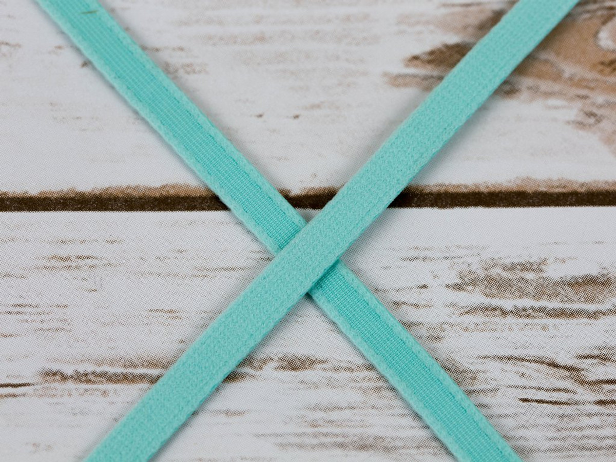"3/8"" wide Aruba Aqua Plush Underwire Channeling for Bra Making By The Yard"