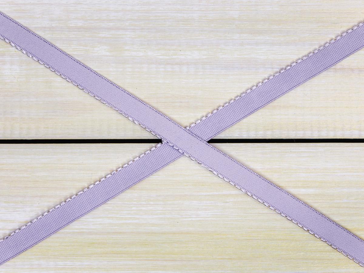 """3/8"""" Lavender Fog Purple Plush Back Finishing Elastic Picot Edge Latex Free"""