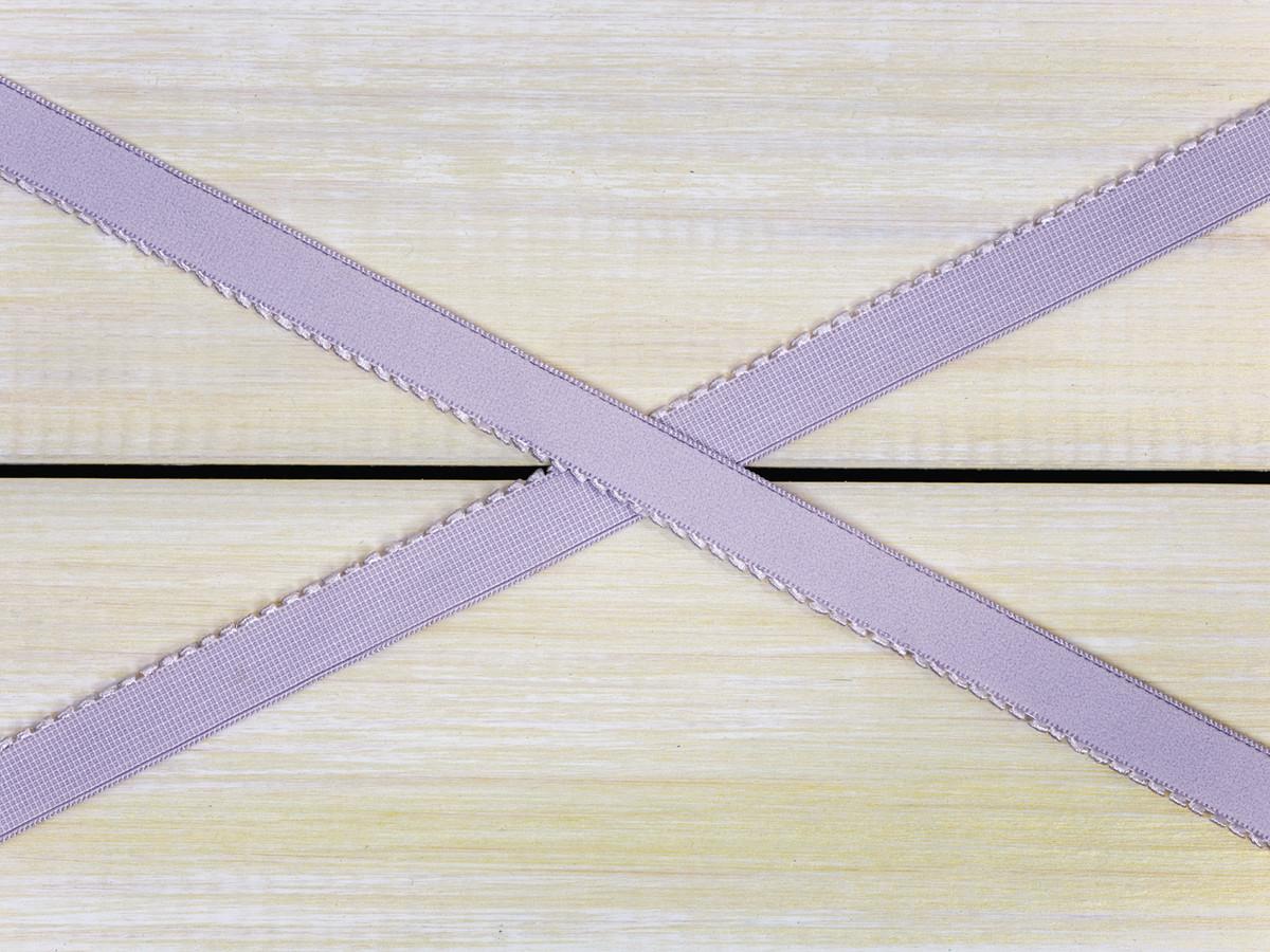 """1/2"""" Lavender Fog Purple Plush Back Finishing Elastic Picot Edge Latex Free"""