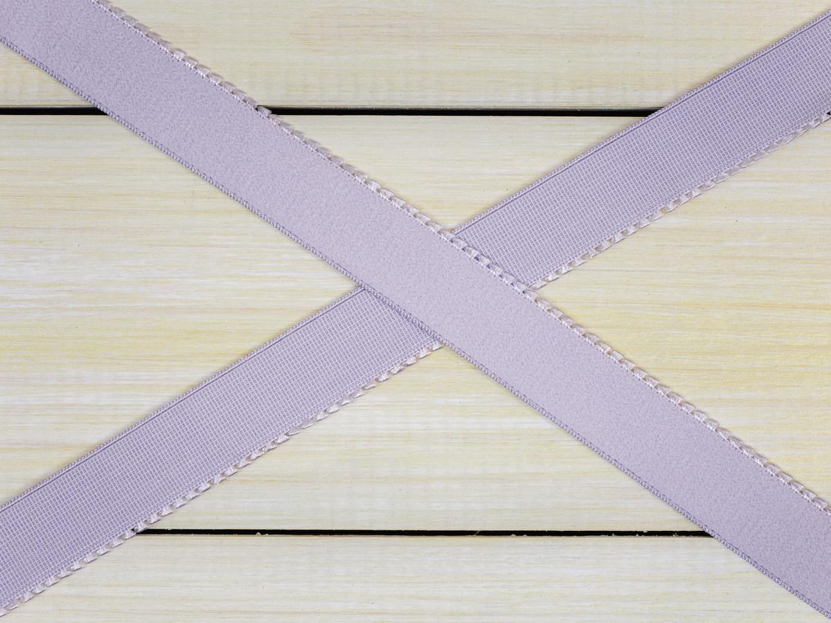 """5/8"""" Lavender Fog Purple Plush Back Finishing Elastic Picot Edge Latex Free"""