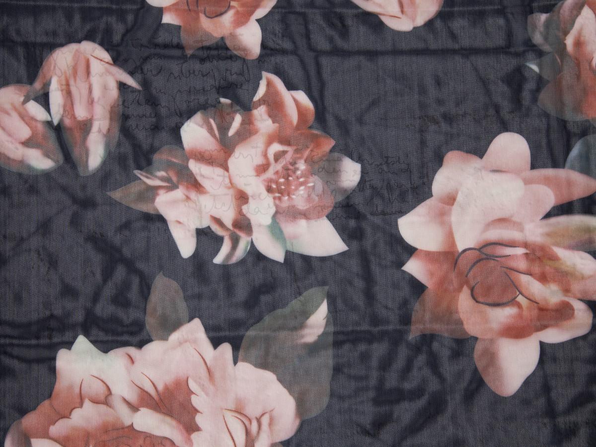 "Floral Print Powermesh Fabric 58"" wide By The Yard"