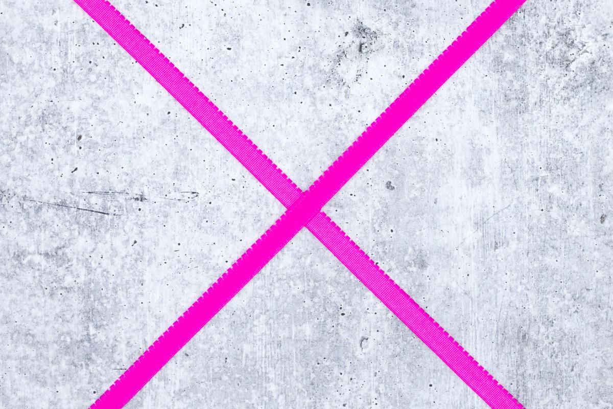 "3/8"" Sizzling Pink Plush Back Finishing Elastic Picot Edge Latex Free"