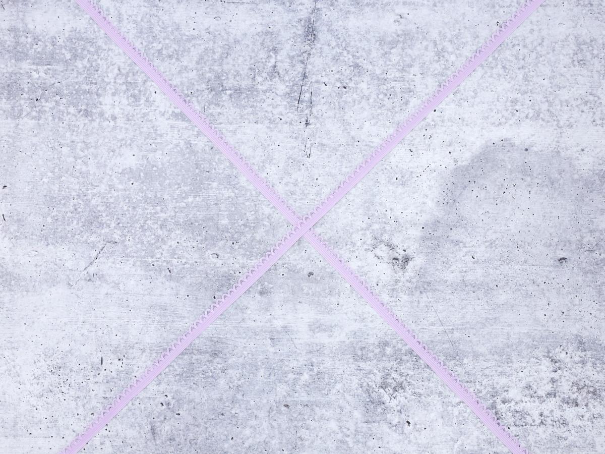 """3/8"""" Lilac Picot Non Plush Finishing Elastic Scalloped Edge"""