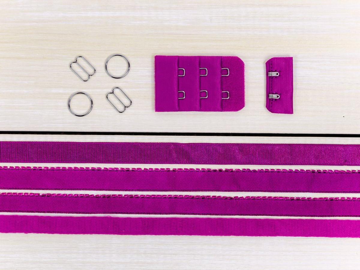 Cherry Pink Bra Making Findings Kit Medium Elastics