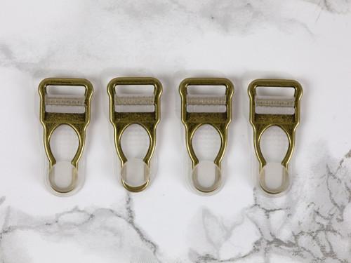 """1/2"""" Antique Bronze Garter / Suspender Clips Set of 4"""