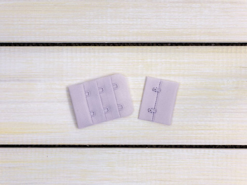 "Lavender Fog 2 Hook and Eye Bra Back Closures 1.5"" x 2"""