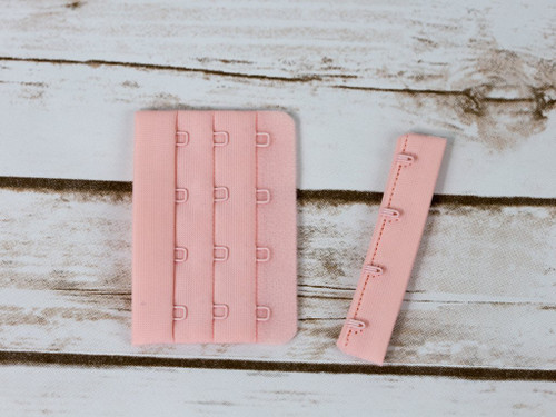 "Rose Quartz 4 Hook and Eye Bra Back Closures 3"" x 2"""