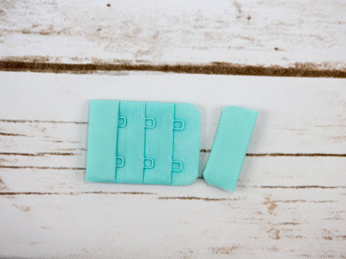 "Aruba Aqua 2 Hook and Eye Bra Back Closures 1.5"" x 2"""
