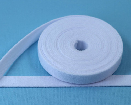 "3/8"" wide White Plush Underwire Channeling for Bra Making DYEABLE By The Yard"