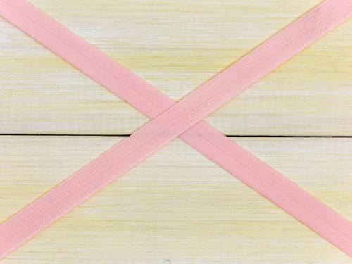 "5/8"" Rose Quartz Foldover Elastic By the Yard"