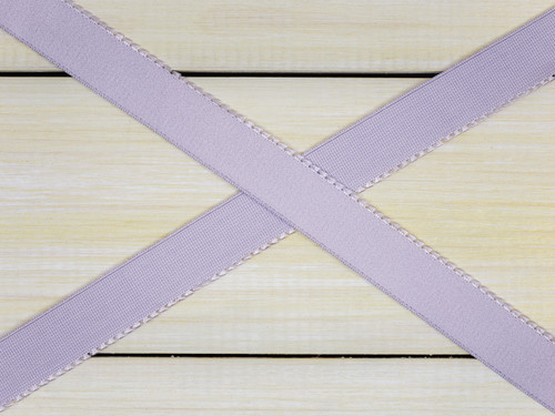 "5/8"" Lavender Fog Purple Plush Back Finishing Elastic Picot Edge Latex Free"