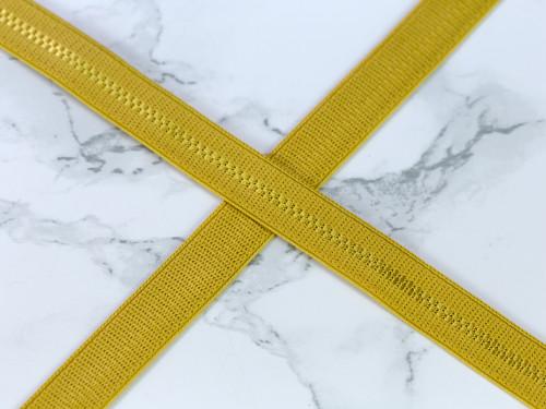 "1/2"" Gold Ochre Plush Back Strap Elastic Latex Free"