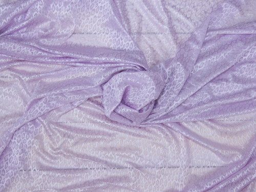 "Lavender Fog Leopard Jacquard Knit Fabric 58"" wide Suitable for Bra Cups"