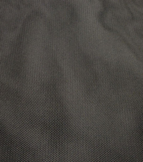 """1/2 Yard Bra Tulle Black Nylon Non Stretch Cup Lining 60"""" wide"""
