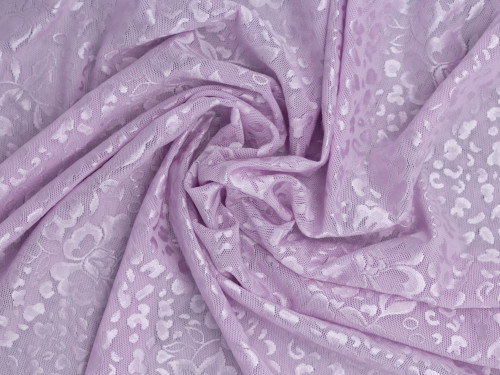 "Lavender Fog Patterned Jacquard Powernet 45"" wide  200gsm"