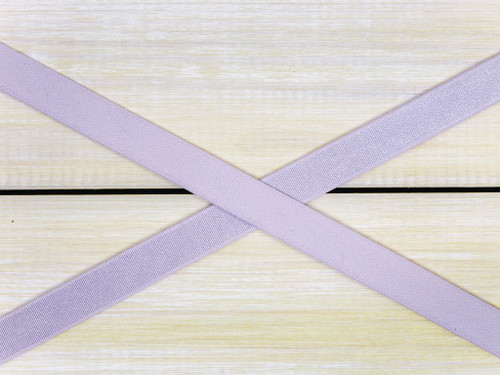"1/2"" Lavender Fog Satin Faced Plush Back Strap Elastic By The Yard"