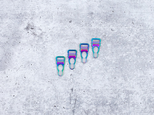 "1/2"" Rainbow Garter / Suspender Clips Set of 4"