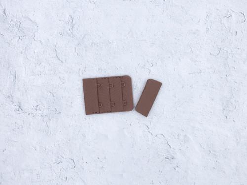 "Chocolate Truffle Brown Hook and Eye Bra Back Closures 1.5"" x 2"""