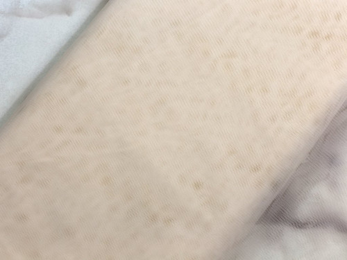 Fat Quarter Bra Tulle Cream Nylon Non Stretch Cup Lining