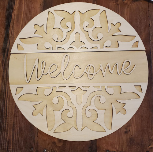 DIY 18 in Round Welcome