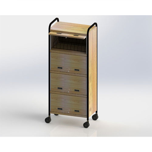 Mov-it Privacy Chart Rack: Side Open