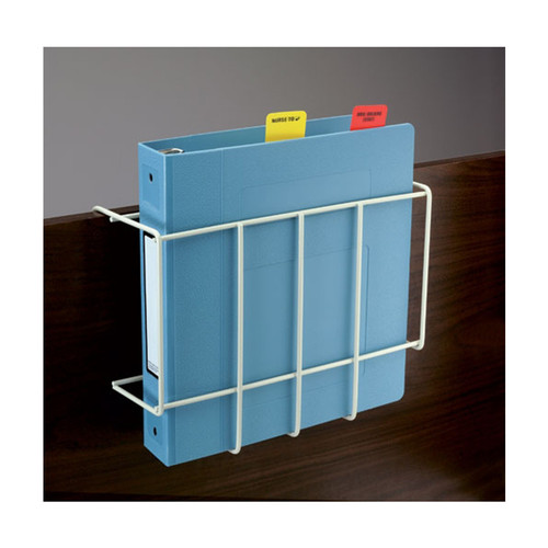 "Wire Over-Bed Chart Holder. ADA compliant. Heavy-duty 1/2"" steel wire epoxy-coated in Beige."