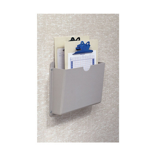 "Wall Mount Beige Chart Holder for temporary storage of one ½"" - 3"" Ringbinder charts."