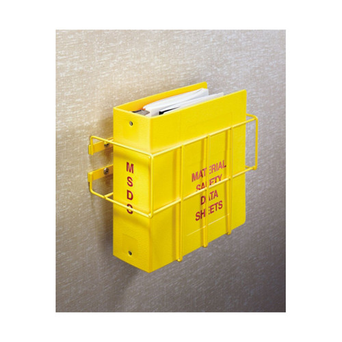 "MSDS Wall Mount. Heavy-duty 3/16"" steel wire epoxy-coated in bright yellow."