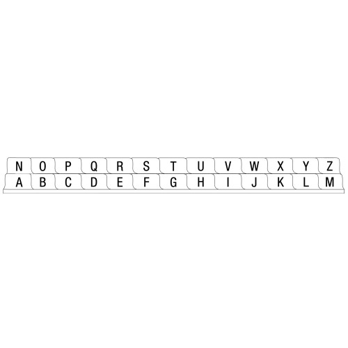 S/O Alphabetical (A-Z) 26 Tab Set Poly Dividers - Antimicrobial
