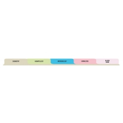 T/O Laboratory 5 Tab Set Poly Dividers - Antimicrobial