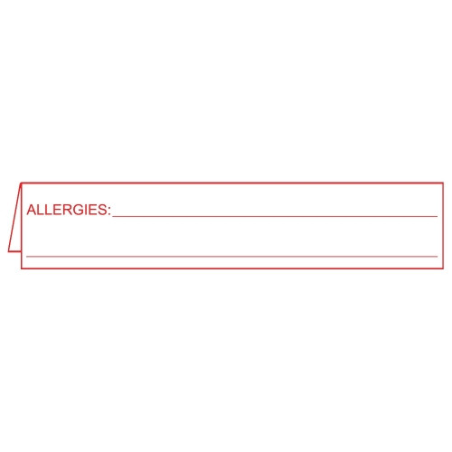 "Folded Insert Card ""Allergies"""