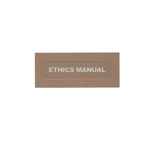 Ethics Manual: Side Open (MCMETH2030-)