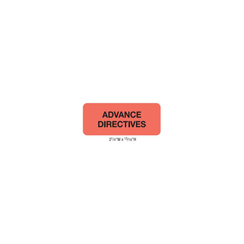 """""""Advance Directives"""" Red Fluor (50700)"""